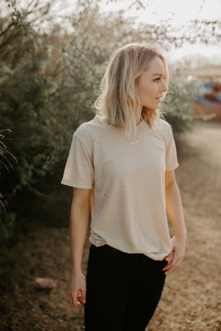 The Tatum Tee - Beige