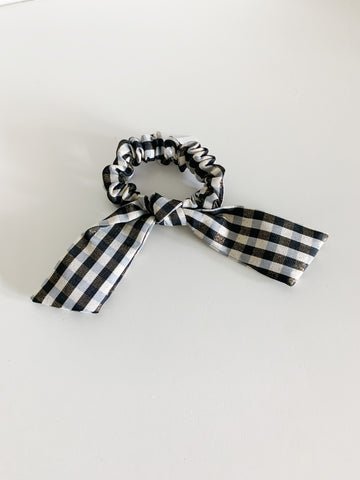 Black & Gold Gingham Scrunchie
