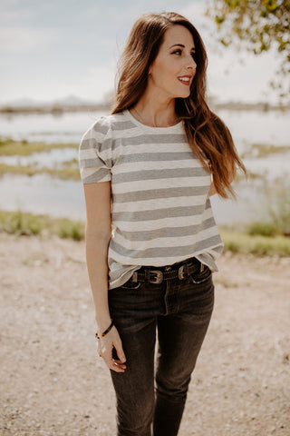 The Maia Top - Heather Grey