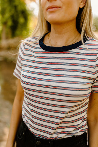 The Audrey Striped Tee