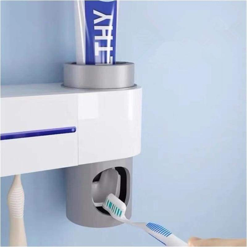 Toothbrush Holder 3 in 1 UV Sterilizer Automatic Toothpaste Squeezer - Gabella