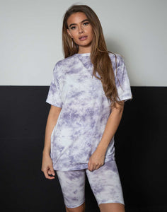 tie dye purple set t-shirt