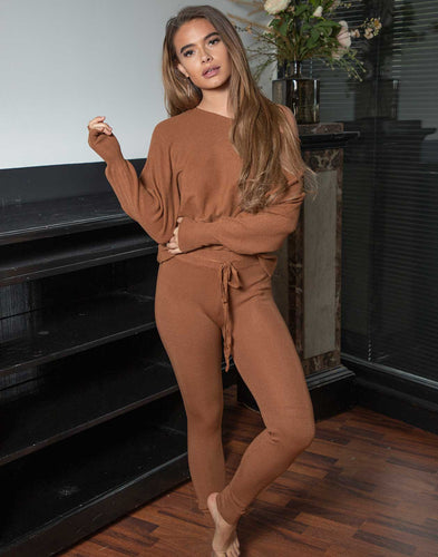 Two Piece Set Camel - Comfysets