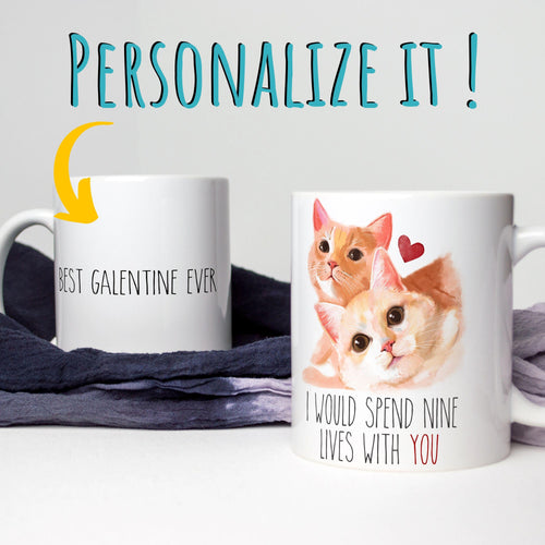 Nine Lives of Love - Personalized Mug