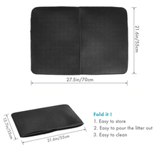 Load image into Gallery viewer, Image description of the large foldable litter trap mat
