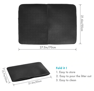 Image description of the large foldable litter trap mat