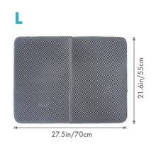 Load image into Gallery viewer, Grey litter trap mat size L