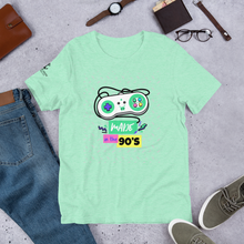 Load image into Gallery viewer, Sink Or Swim Clothing Co. Made in the 90's Retro Game Console Short-Sleeve Unisex T-Shirt