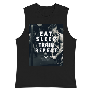Sink Or Swim Clothing Co. Eat Sleep Train Repeat Muscle Builder Muscle Shirt