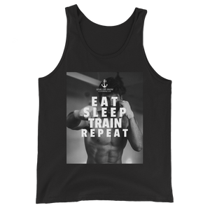Sink Or Swim Clothing Co. Eat Sleep Train Repeat Boxer Tank Top