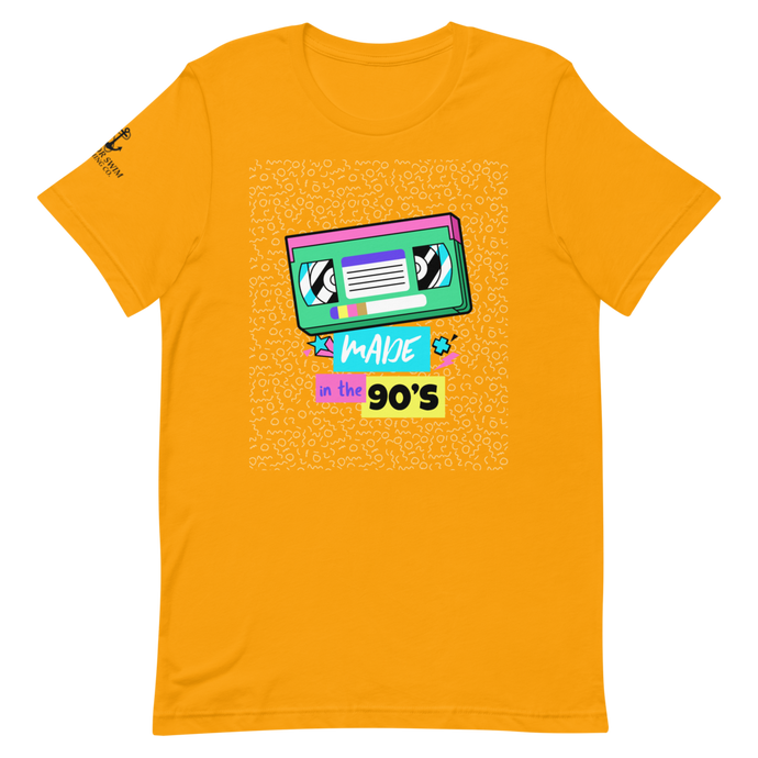Sink Or Swim Clothing Co. Made in the 90's VHS Short-Sleeve Unisex T-Shirt