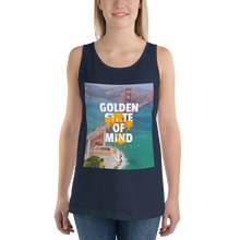 Load image into Gallery viewer, Sink Or Swim Clothing Co. Golden State Of Mind Bay View Unisex Tank Top