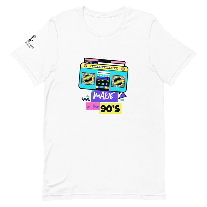 Sink Or Swim Clothing Co. Made in the 90's Retro Boom Box Short-Sleeve Unisex T-Shirt