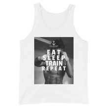 Load image into Gallery viewer, Sink Or Swim Clothing Co. Eat Sleep Train Repeat Boxer Tank Top