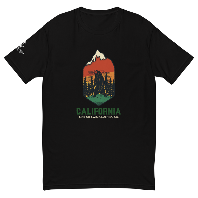 Roarin' California Sink Or Swim Clothing Co. Short Sleeve Fitted T-shirt