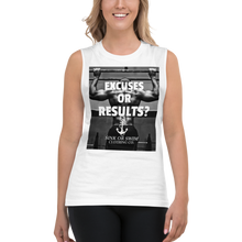 Load image into Gallery viewer, Sink Or Swim Clothing Co. Excuses Or Results Gains Muscle Shirt