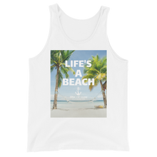 Load image into Gallery viewer, Sink Or Swim Clothing Co. Life's A Beach Relax Unisex Tank Top
