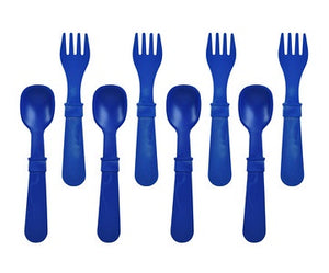 Re-Play Utensils Fork/Spoon Navy 8 Pack