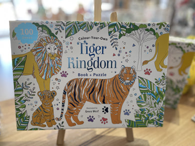 Colour Your Own Tiger Kingdom Book & Puzzle