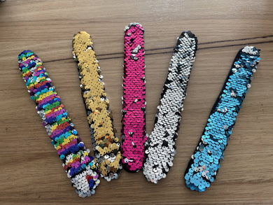 Sequin Slap Band Fidget Bracelets
