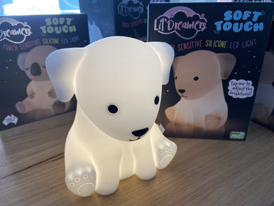 Lil Dreamers Soft Touch Silicone Puppy Dog LED Night Light