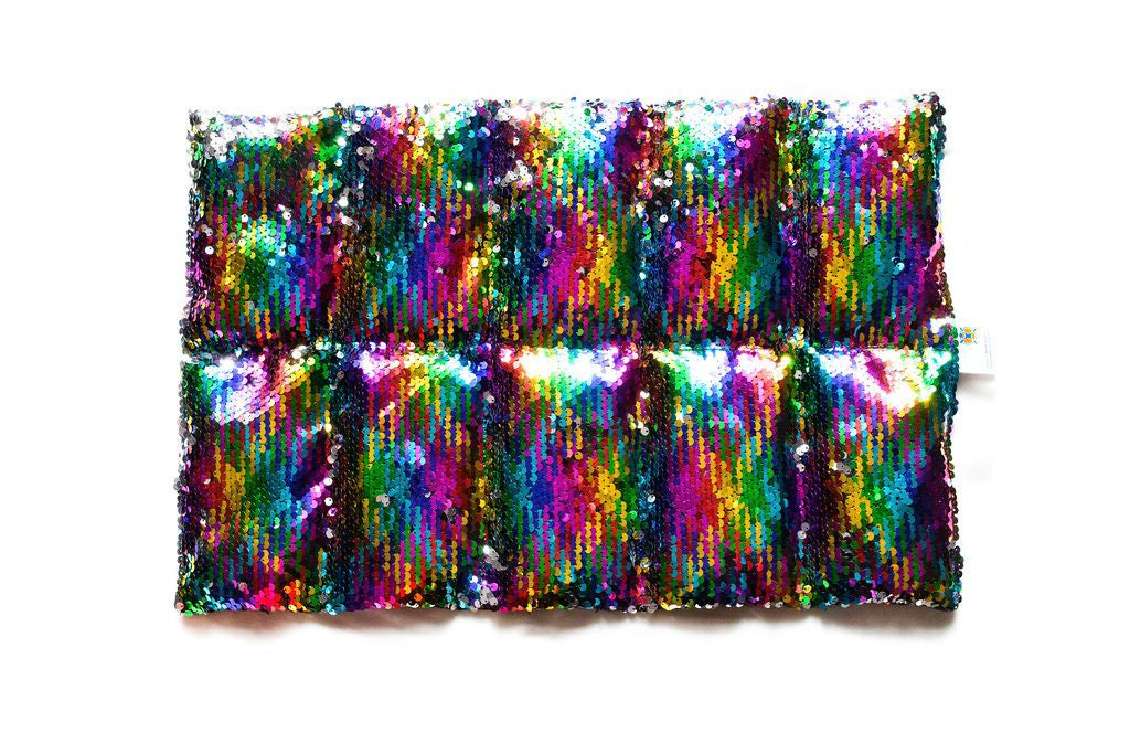 Therapy Weighted Lap Pad Rainbow Sequin 1.5kg