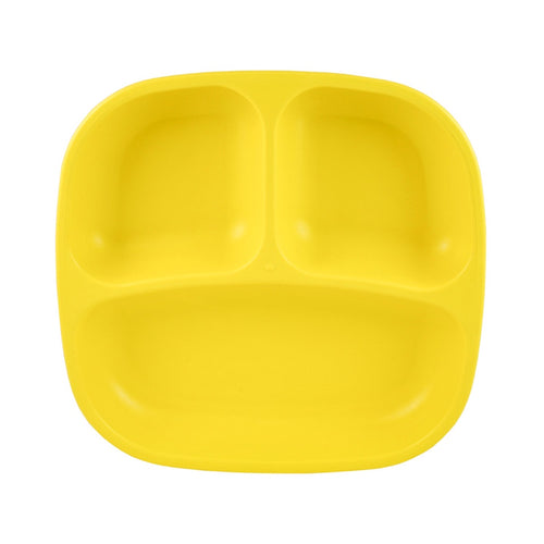 Re-Play Divided Plate Yellow