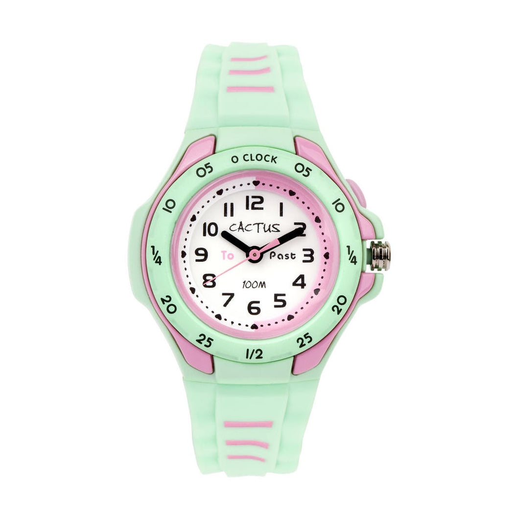 Cactus Time Teacher Watch - Mentor Mint Green