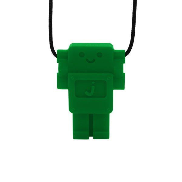 Robot Chewable Silicone Pendant - Green