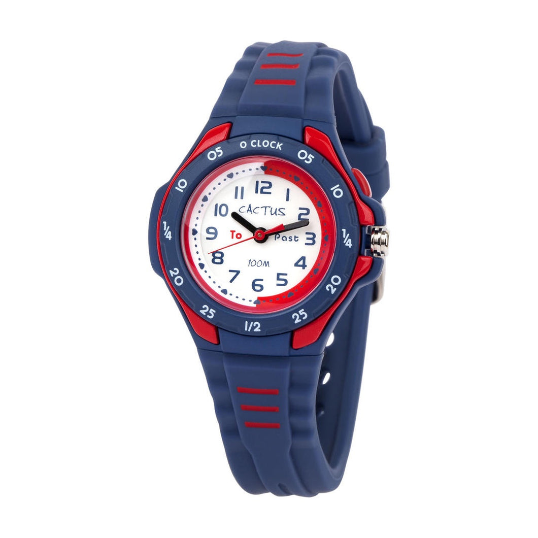 Cactus Time Teacher Watch - Mentor Blue / Red