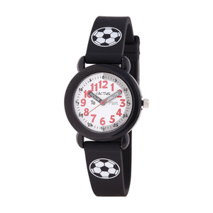 Cactus Time Teacher Watch: Black / Soccer Ball