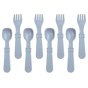 Re-Play Utensils Fork/Spoon Grey