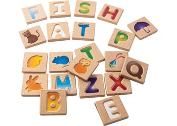 PlanToys - Alphabet Tiles (Set of 26)