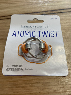 Atomic Twist Metal Flip fidget