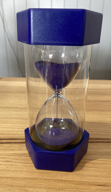 Coloured Sand Timer Navy Blue - 5 Minutes