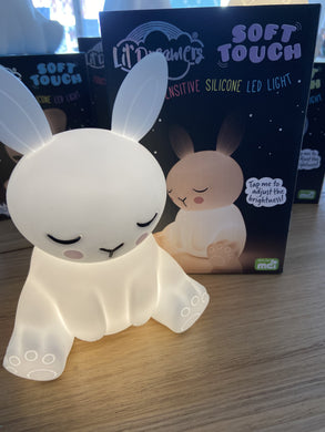 Lil Dreamers Soft Touch Silicone Bunny LED Night Light