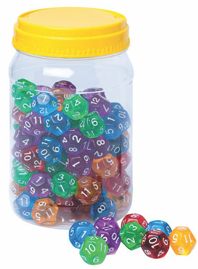 12 Sided Polyhedral Dice (sold individually)
