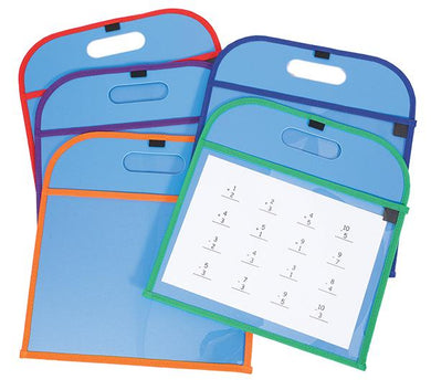 Write and Wipe Pocket Board 5 Pack