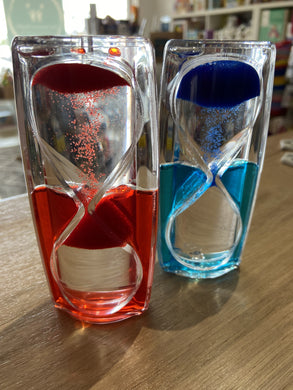 Anti Gravity Liquid Visual Timer: Red or Blue