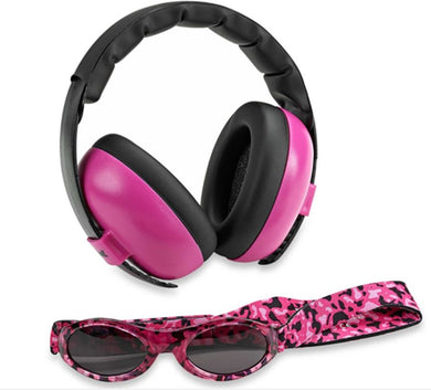 Banz Protective Sunglasses Earmuff Combo - Magenta: On Sale Was $39.95