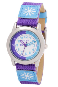 Cactus Time Teacher Watch - Blue / Purple Flower