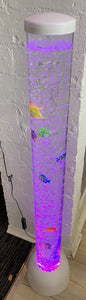 Sensory LED  Bubble Tube with Fish - Black Base and Top