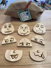 Load image into Gallery viewer, Wooden Eggspression Set of 20 Feelings Faces