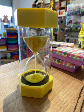 Coloured Sand Timer - 3 Minutes Yellow