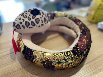 Goldie the Weighted Sequin Snake 1.8kg