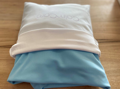 Sensory Compression King Single Bed Sheet - Light blue