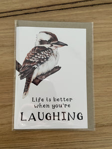 My Tiny Explorer Kookaburra Card