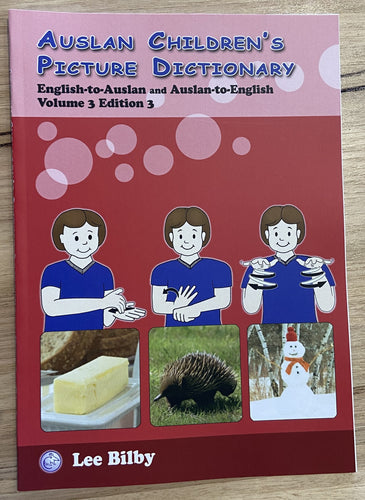 Auslan Childrens Picture Book Dictionary Volume 3, 3rd Edition