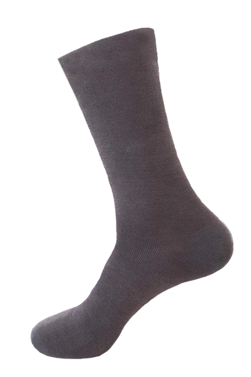 CalmCare Kids Sensory Grey School Socks Ages 8-10 (Size 13-3)