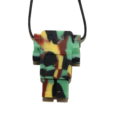 Robot Chewable Silicone Pendant - Camo
